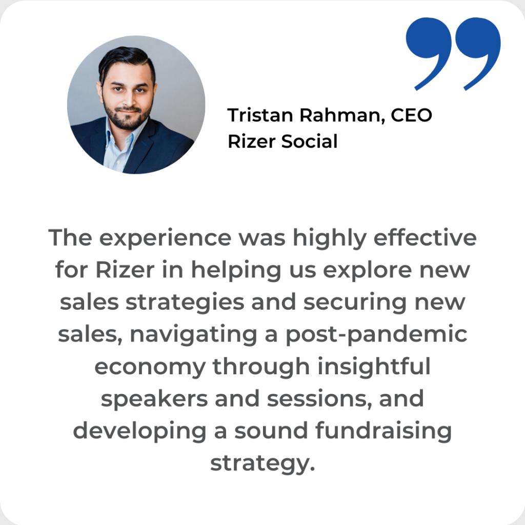 Tristan Rahman Testimonial Rizer Social